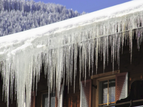 A picture of frozen gutters