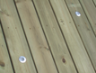 A picture of pressure washed deck panels